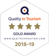 Quality in Tourism 4 Star Gold Award